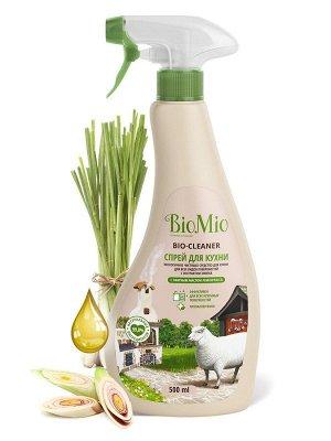 BioMio BIO-KITCHEN CLEANER Экологичный чистящий спрей для кухни Лемонграсс 500 мл
