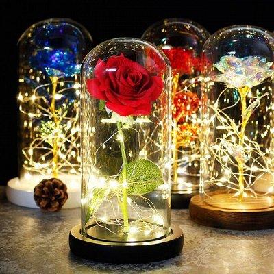 🎄 Предзаказ! Новогодние Чудеса Уже Близко - 2!!! — Стабилизированная Роза - Идеальный Подарок! — Украшения для интерьера