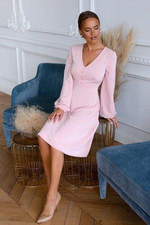 Платье Размер: 44 / 48 Красивый фасон платья из шелка, отлично дропируется, хорощо держит форму. женственное и элегантное, с широким вточным поясом на пуговичках по передней части. Рукава присборены н
