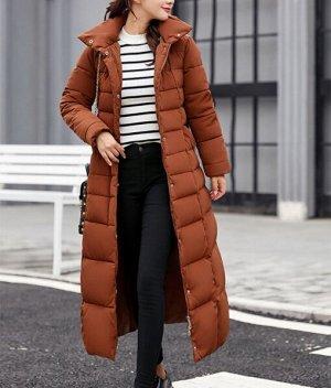 Зимний пуховик,коричневый
