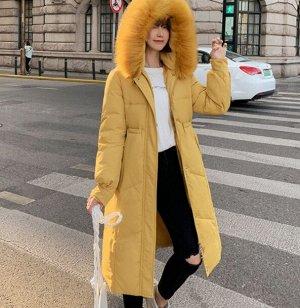 Зимний пуховик,желтый