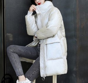 Зимний пуховик,белый