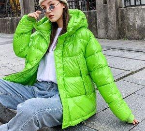 Зимний пуховик,зеленый