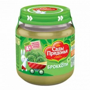 Сады Придонья пюре овощное из капусты брокколи (упак.стеклянная) 120г