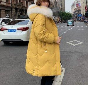 Зимний пуховик, желтый