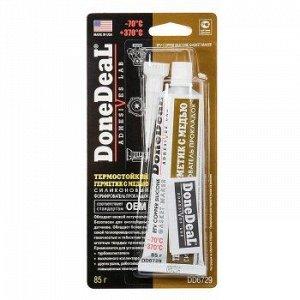 """Герметик прокладка """"DoneDeal"""" термост. силиконовый, Медь 85гр."""