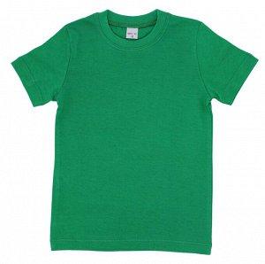 Футболка однотонная зеленая