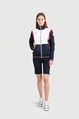 Куртка тренировочная женская (синий/белый)