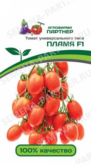 ТМ Партнер Томат Пламя F1 / Гибрид томата сливовидной формы