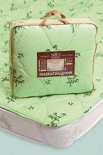 """Наматрацник""""Бамбук-300"""" (чехол""""тик; наполнитель:бамбуковое волокно,300 г/кв.м; на резинках), 120/200"""