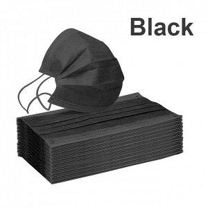 Защитная маска 50 шт Чёрная