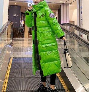 Пуховик,зеленый