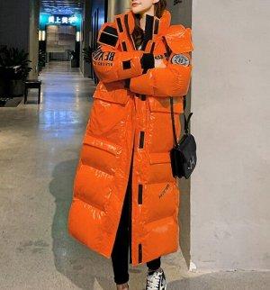Пуховик,оранжевый
