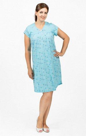 Сорочка трикотажная двойного крашения, голубой (659-3)