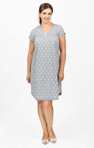 Сорочка трикотажная двойного крашения, серый (659-2)