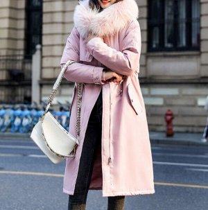 Зимняя парка,розовый