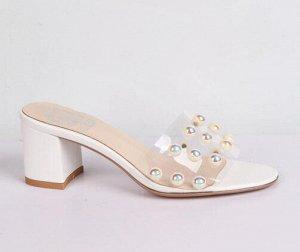 9B137-01-2-8 белый (ПВХ/) Туфли летние открытые женские 8п