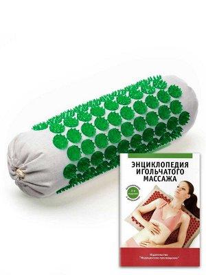 Массажер мягкий валик, зеленый