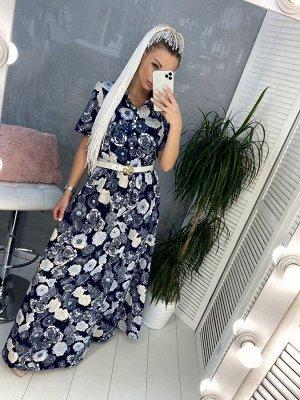 Платье Ткань: джинса Рост модели 165см