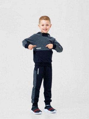Костюм (куртка+ брюки) для мальчиков. Темно-серый меланж