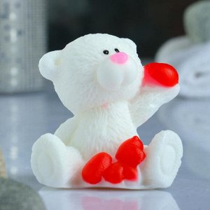 """Фигурное мыло """"Мишка с сердечками"""" 50гр"""