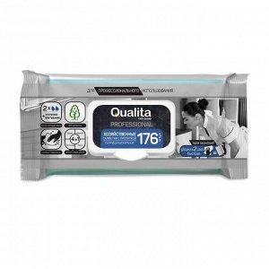 Влажные салфетки хозяйственные Qualita с пропиткой 176 шт.