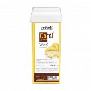 RuNail, Воск для депиляции Cardi (аромат: Спелый банан), 100 мл