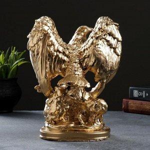 "Фигура ""Орел"" малый золото. 15х21х26см"