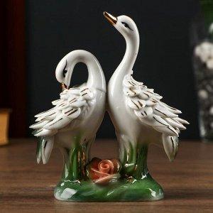 "Сувенир керамика ""2 цапли перья"" 15х11,5х,5 см"