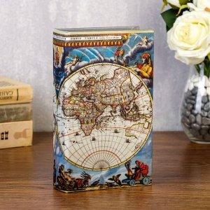 "Сейф-книга ""Карта путешественника"" обтянута шёлком"