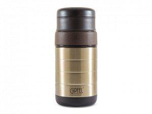 8212 GIPFEL Набор контейнеров для еды KLOSS (в комплекте термос вакуумный с широким горлом 1000мл, 2 контейнера для еды 300мл/400мл, сумка). Материал: нерж. сталь 18/10, пластик, силикон.