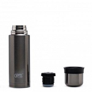 8196 GIPFEL Термос вакуумный SANTOS 500мл. Материал: нерж. сталь 18/10, пластик. Цвет: серый
