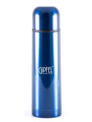 8199 GIPFEL Термос вакуумный SANTOS 750мл. Материал: нерж. сталь 18/10, пластик. Цвет: синий