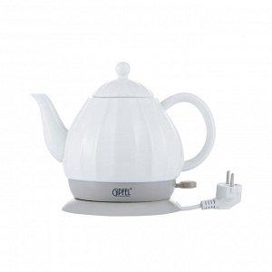 1171 GIPFEL Чайник электрический ENRICA 1,2л. Материал: керамика, пластик. Цвет: белый