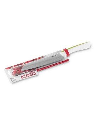 50054 WERNER Нож Сантоку RIFREDO 18см. Материал лезвия: нерж.сталь. Материал ручки: TPR пластик с покрытием Soft Touch