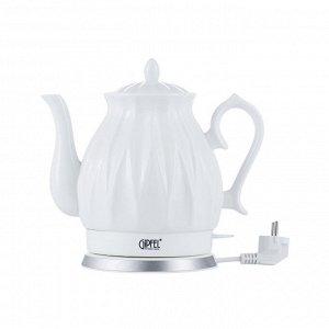 1175 GIPFEL Чайник электрический ENRICA 1,8л. Материал: керамика, пластик. Цвет: белый