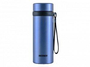 50179 WERNER Термос вакуумный с ситом CILE 500мл. Материал: нержавеющая сталь, пластик. Цвет: голубой