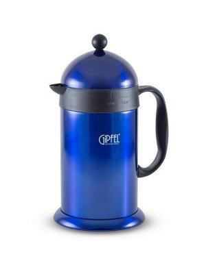 5388 GIPFEL Кофейник-термос 15,5х13,5х27,5 см 1 л с двойными стенками (нержавеющая сталь)