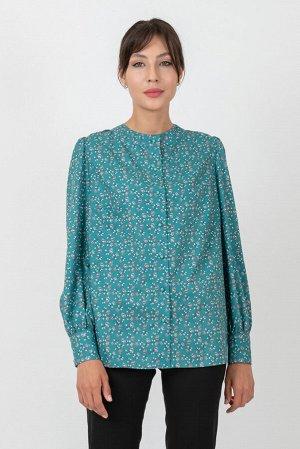 Блузка Цвет зелёный. Комплектация блузка. Состав вискоза-65%, полиэстер-30%, эластан-5%. Бренд FALINDA.
