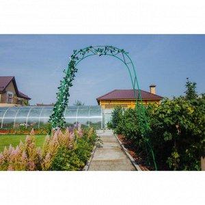Арка садовая, разборная, 240 ? 125 ? 36.5 см, металл, зелёная, «Ёлочка», Greengo