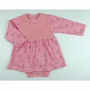 Боди-платье 5139/7 (звезды на розовом)
