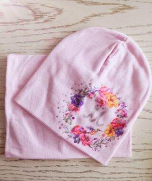 Набор шапка + снуд. Цвет розовый
