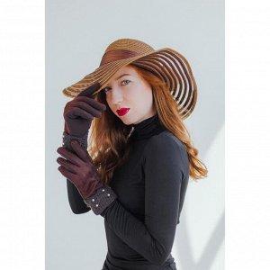 Перчатки женские, безразмерные, для сенсорных экранов, с утеплителем, цвет кофе