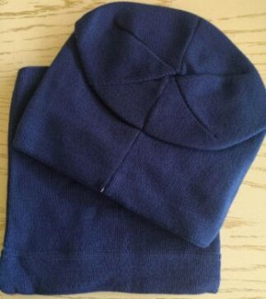 Набор шапка + снуд, цвет синий