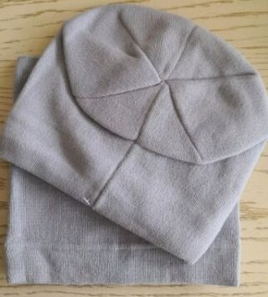 Набор шапка + снуд, цвет  серый