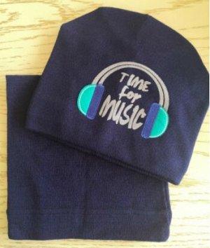 Набор шапка + снуд, цвет тёмно-синий