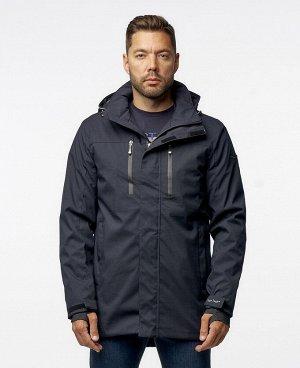 . Черный; Темно-синий;    Куртка POO 9904  Стильная мужская куртка, два наружных боковых кармана на молниях, два нагрудных кармана на молниях - удобные для телефона и мелких предметов, два внутрен