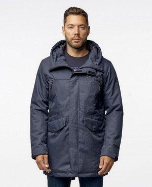 . Черный; Темно-серый; Серый; Серо-синий;    Куртка POO 9920  Стильная, комфортная куртка - парка, изготовлена из качественной ветрозащитной ткани с водоотталкивающим покрытием. Два нижних боков