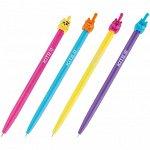 Ручка шариковая автоматическая Kite Color Cat K20-030-01, синяя