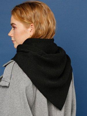 Косынка Данная модель похожа на палантин или платок, что делает изделие более универсальным и практичным. Выполнена вязкой простой резинки из теплой меланжевой пряжи. Особенность в том, что косынку мо